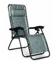 Camco 51811 Zero Gravity Recliner (Green Swirl Pattern)