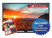 $1399.99Sharp LC60LE847U 240Hz 1080p 3D 60-inch LED TV + Free $250 Gift Card