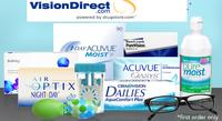 25% OFF+ Free Shipping on Contact Lenses (New customers only) @ Vision Direct