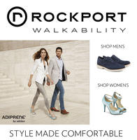 Extra 20% off $150,  25% off $200,  30% off $250 @Rockport