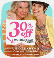 30% off + free shippingMother's Day Cards at Cardstore