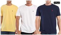 3 Pack: Polo by Ralph Lauren Mens Pony Logo Classic Fit T-Shirts
