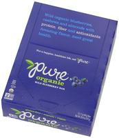 $6.96 Pure Organic Raw Fruit & Nut Bars - Wild Blueberry (Pack of 12)