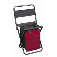 Folding Chair with Cooler in Red