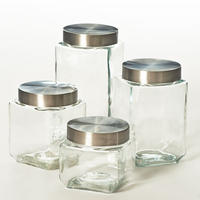 Kitchenworks 4 Piece Glass Canister Set