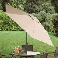 BrylaneHome 8-Foot Tilting Patio Umbrella