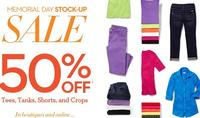 50% OFFselect items + extra 10% off during Memorial Day Sale @Chicos