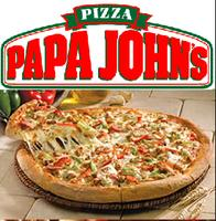 50% off Papa John's large pizza