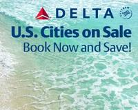 From $80Delta U.S. Cities flights each way sale @ Travelocity