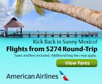 From $274American Airlines round-trip flights to Mexico