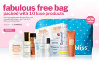 Free sample-packed bag($150 Value)with any $100 purchase @Bliss