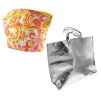$10Clinique Extra Large Silver Flower Tote Bag or Clinique Large Multicolored Flower Beach Bag