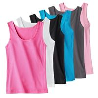 $3012-Pack Assorted Cotton Ribbed Ladies Tank Tops