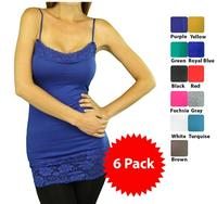 $396 Pack of Long Lace Camisoles