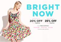 Extra 20% Off $100,Extra 25% Off $125 + Free shipping @Betsey Johnson