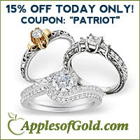 15% OFFstore wide @ Apples of Gold