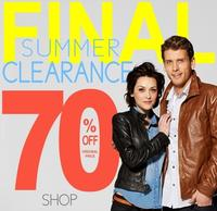 70% off  Final Clearances + extra 20% off entire site@ Wilsons Leather