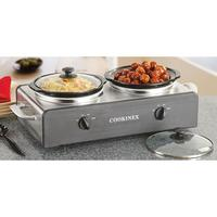 Cookinex Stainless Steel Double Slow Cooker