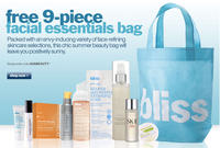 Free 9-pc Facial Essentials Bagwith any $100 purchase @Bliss