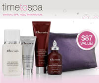 Free Elemis 5-pc Night Time Indulgence Seton Orders of $75 or More @Time To Spa