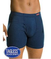 $9.995-Pack Hanes Men's Tagless Boxer Briefs with ComfortSoft Waistband