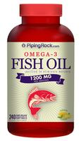 $5.69Omega-3 Fish Oil 1200 mg, Lemon Flavor (240 Softgels)
