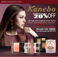 Extra 20% OFFKanebo Products (Including Kate, Lunasol, Lavschuca, and Coffret D'or) @Imomoko