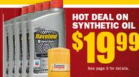 $19.99 5qts of Havoline Synthetic Motor Oil, oil filter