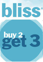 Buy 2 Get 3rd Freewith bliss, elemis, and remede purchase of $100 @Bliss
