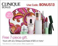 Free 7 piece gift set with any$25 Clinique purchase @ Boscovs