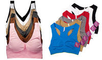 $29.99 Sofra Seamless Sports Bras for Ladies 6-pack