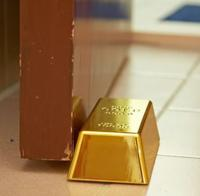 Faux Gold Bar Door Stop
