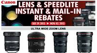 Up to $300 rebateon Canon lenses & speedlite @ Beach Camera