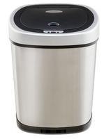 $35 Nine Stars 13.2-Gallon Touchless Stainless Trash Can