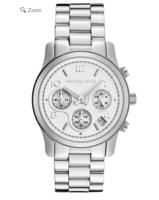 Michael Kors Women's Chronograph Silver Dial Stainless Steel Watch @ eWatches
