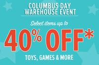 Up to 40%OFFColumbus Day Warehouse Event @YoYo.com