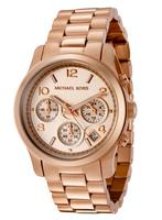 $174Michael Kors Women's Chronograph Rose Gold Tone Dial and Bracelet Watch