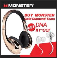 Limited Edition!Dealmoon 11/11 Exclusive, Buy Gold Monster Diamond Tears High-Definition On-Ear, Get Free DNA in-ear Headphones from Monster®