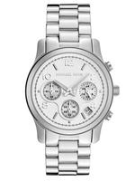 $150Michael Kors Women's Chronograph Silver Dial Stainless Steel Watch