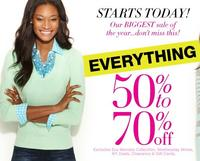 50% -70% off entire site + free shippingNew York & Company Sale