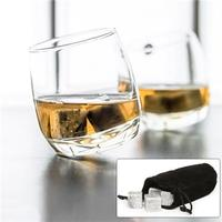 $8Set of 9 Whiskey Stones with Velvet Pouch