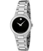 Movado Women's Corporate Exclusive Black Dial Stainless Steel Watch