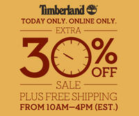 Up to 50% OFF sale items+ Extra 30% Off Sale Items @ Timberland