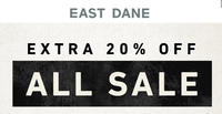 Extra 20% Off Sale Items @Eastdane