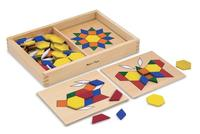 Lightning deal! Melissa & Doug Pattern Blocks and Boards