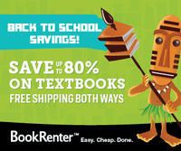 5% Off3 or More Textbook Rentals @BookRenter.com