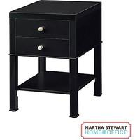 Martha Stewart Home Office™ Chase Small Cabinet, Coal Black