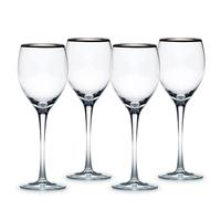 Cameo Platinum Wine Glasses, Set of 4