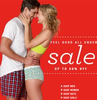 Up To 50% OffMen's and Women's Underwear @ Hanes