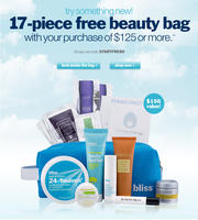 17-piece free beauty bagwith purchase of $125+ @ Bliss